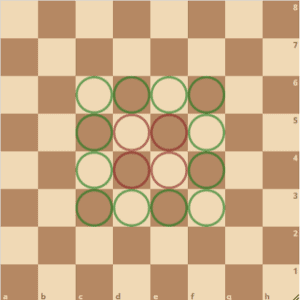 64 sqaures on a chessboard