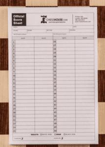 chess scoresheet