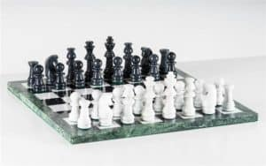 """18"""" Marble Black and White Chess Set"""