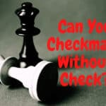 Can You Checkmate Without Check?